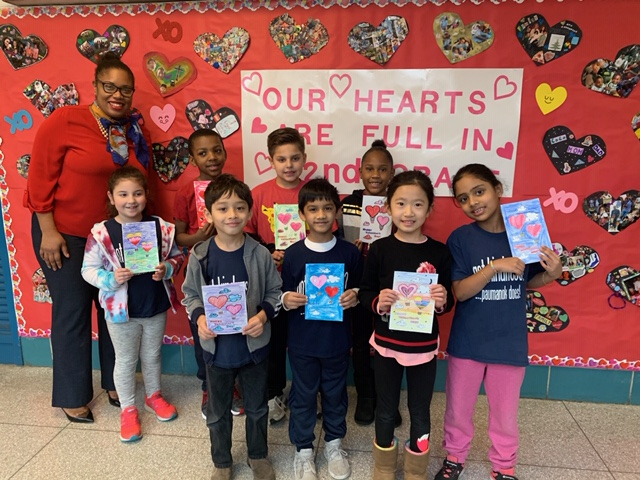 Second Graders Make Valentine's Day Cards For Seniors & Veterans