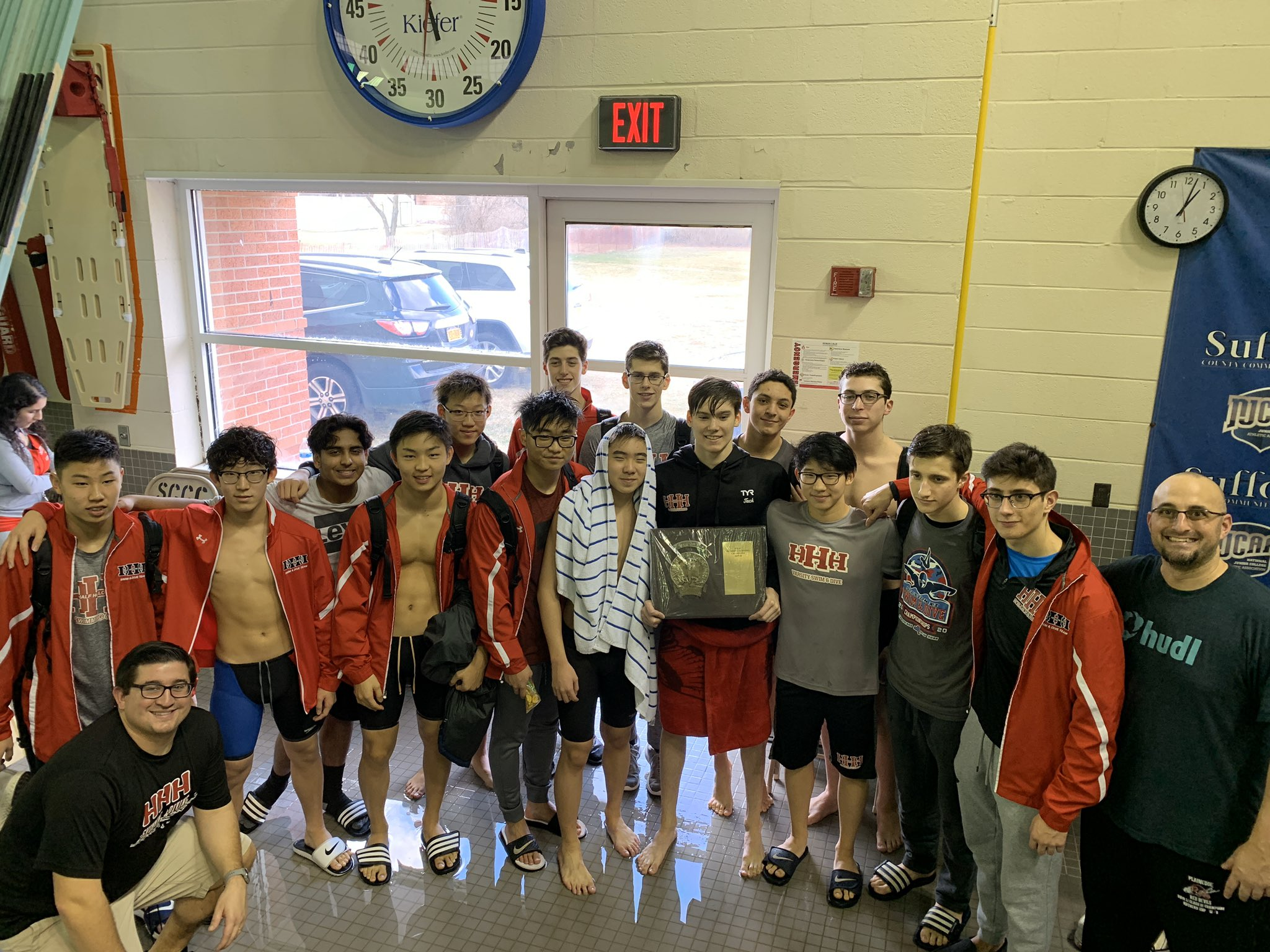 Varsity Boys Swimming & Diving Team Win 14th Straight Section XI County Championship