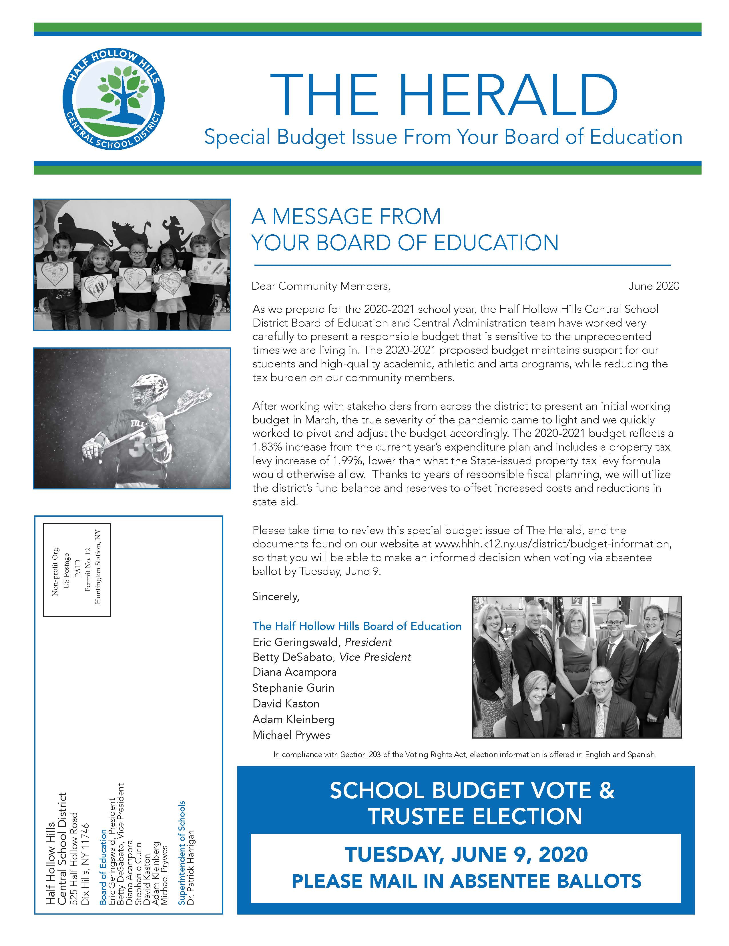 2020-2021 School Budget Vote Information