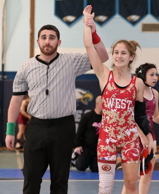 West's Maddy Ridge Wins 106 lbs. Bracket In First Ever County Wrestling Tournament For Females