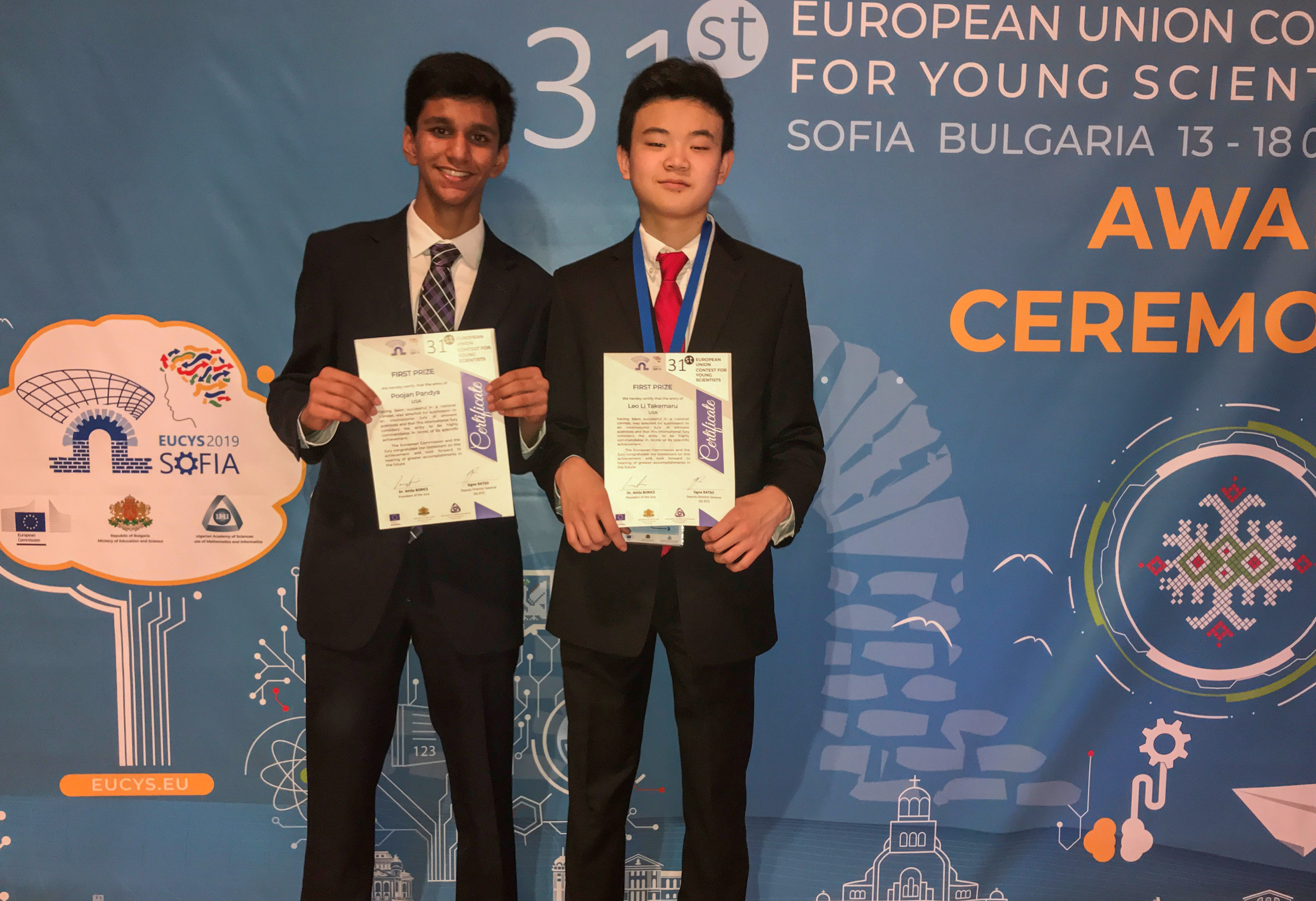 Hills West's Poojan Pandya Takes Top Prize At European Union Contest For Young Scientists
