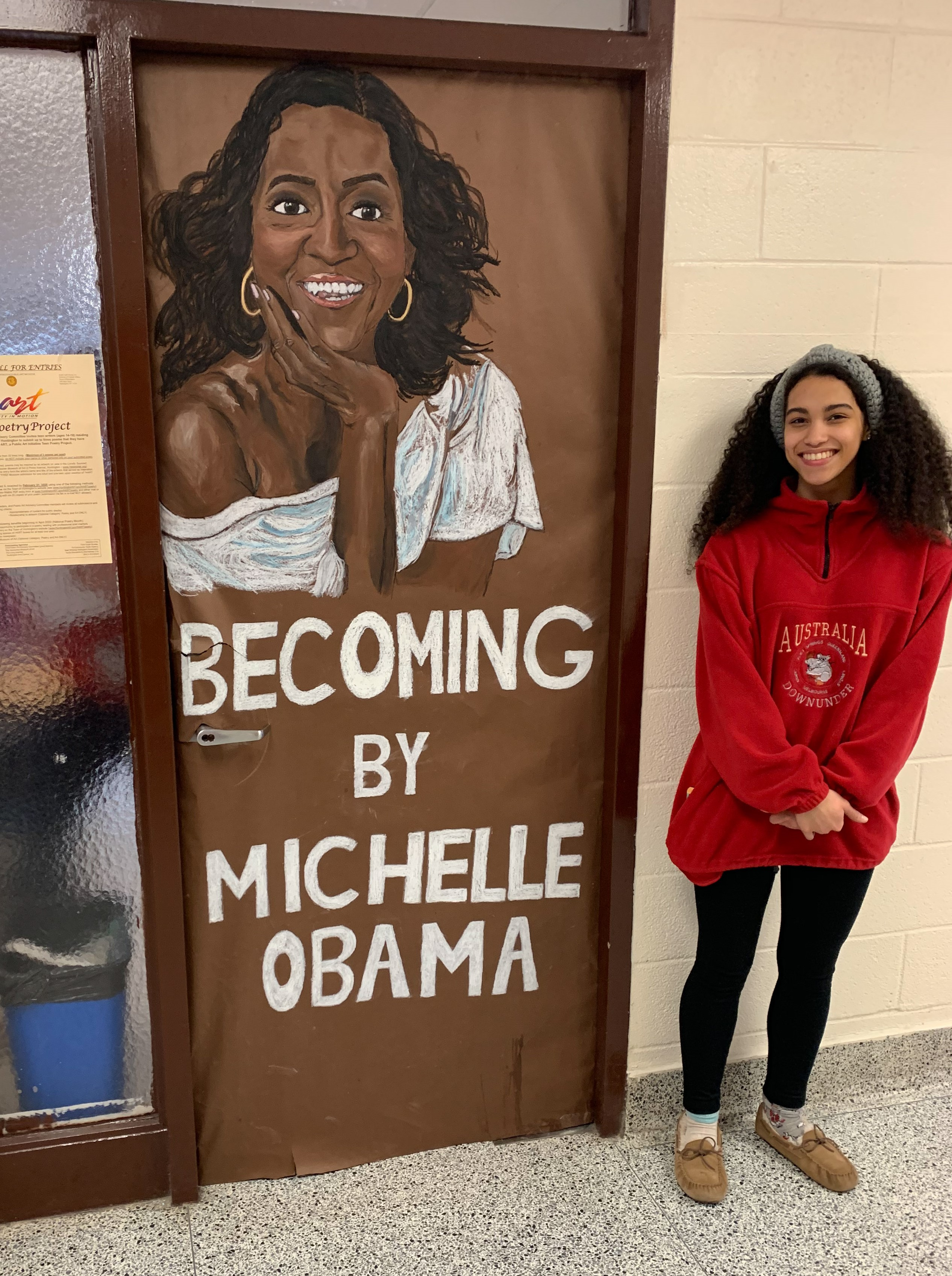 Hills East AASO Celebrates Black History Month By Decorating English Hall With Book Covers