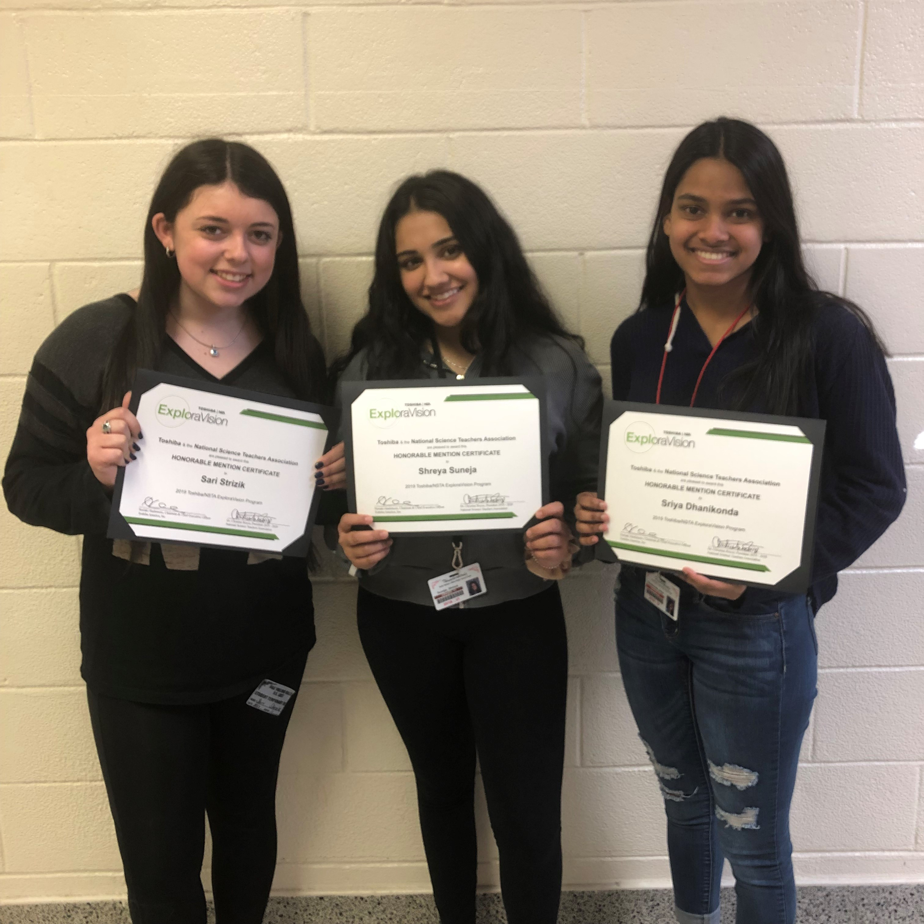 Hills East Biology Research Students Win Honorable Mention In ExploraVision Competition