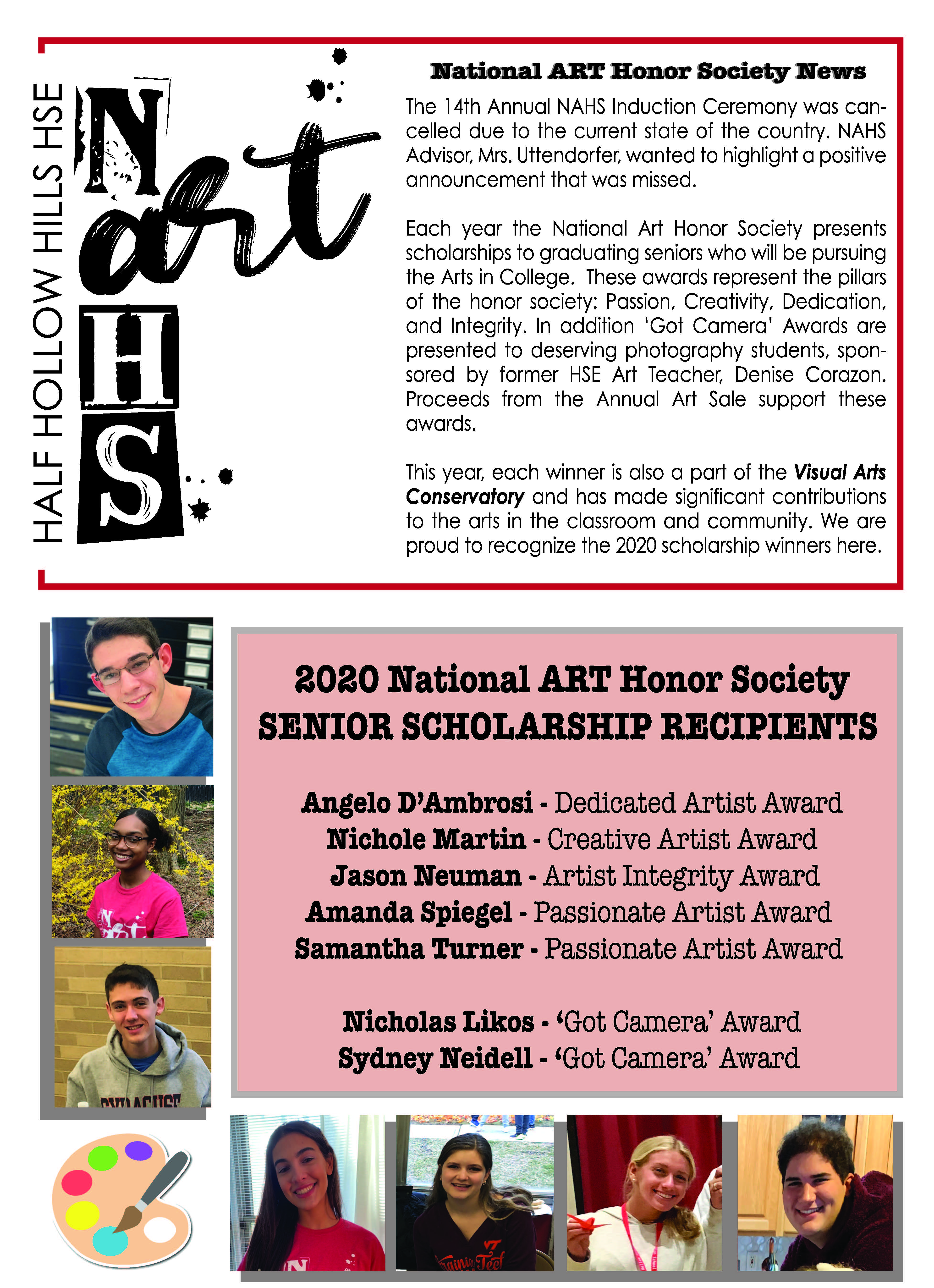 East Artists Awarded National Art Honor Society Scholarships
