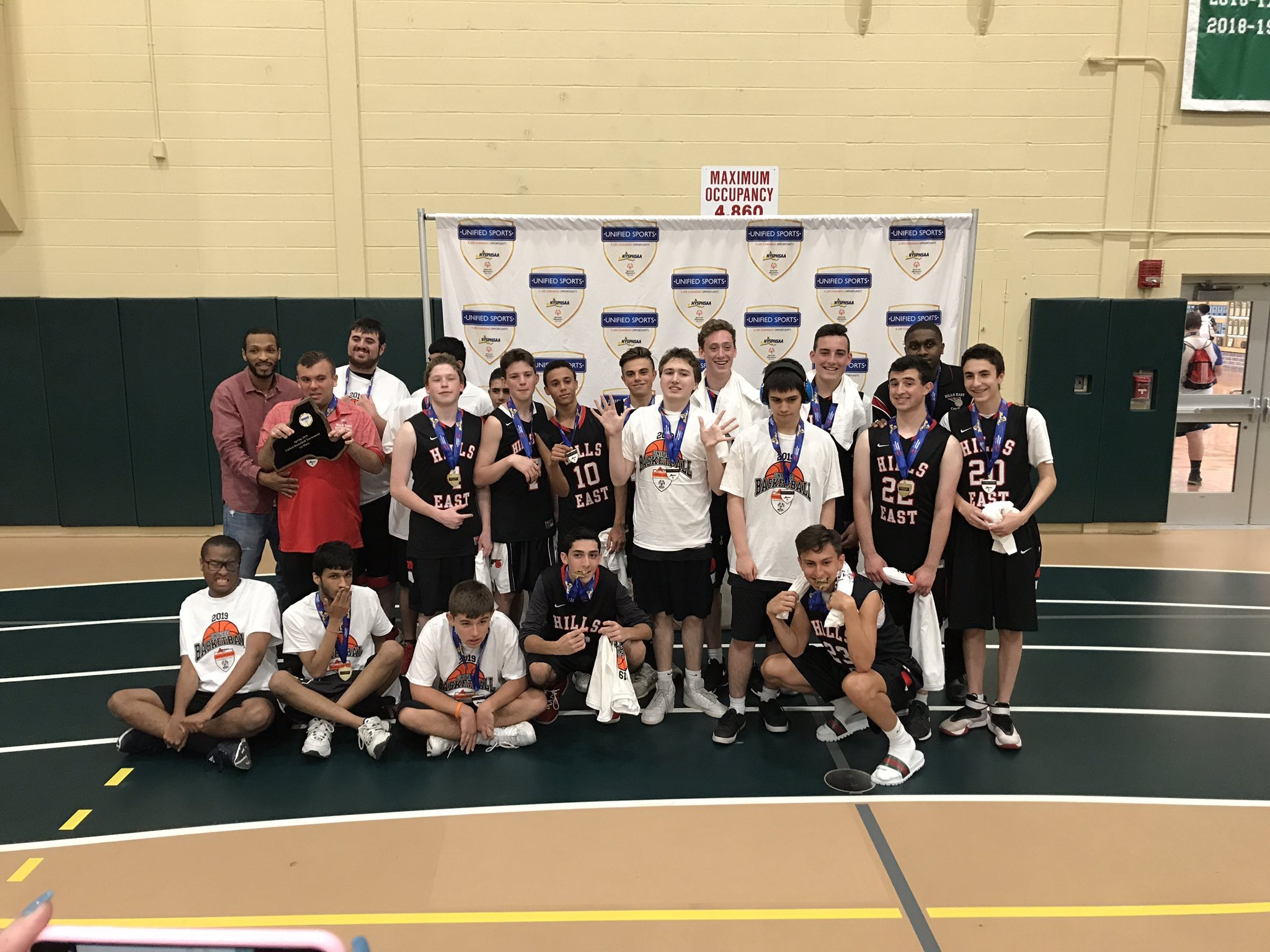 "Hills East Unified Basketball Team Wins ""A Division"" Section XI Championship"
