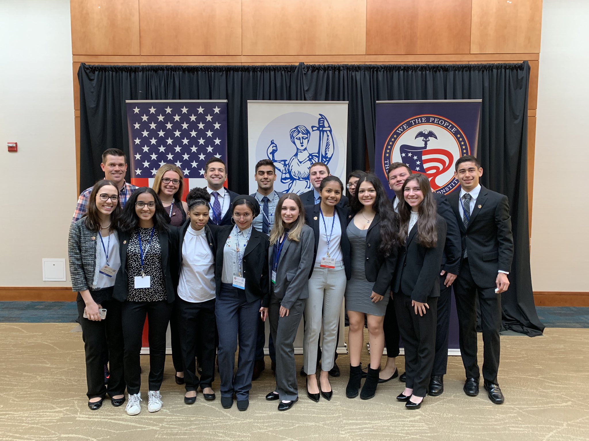 Hills East We The People Team Competes At National Finals In Washington DC
