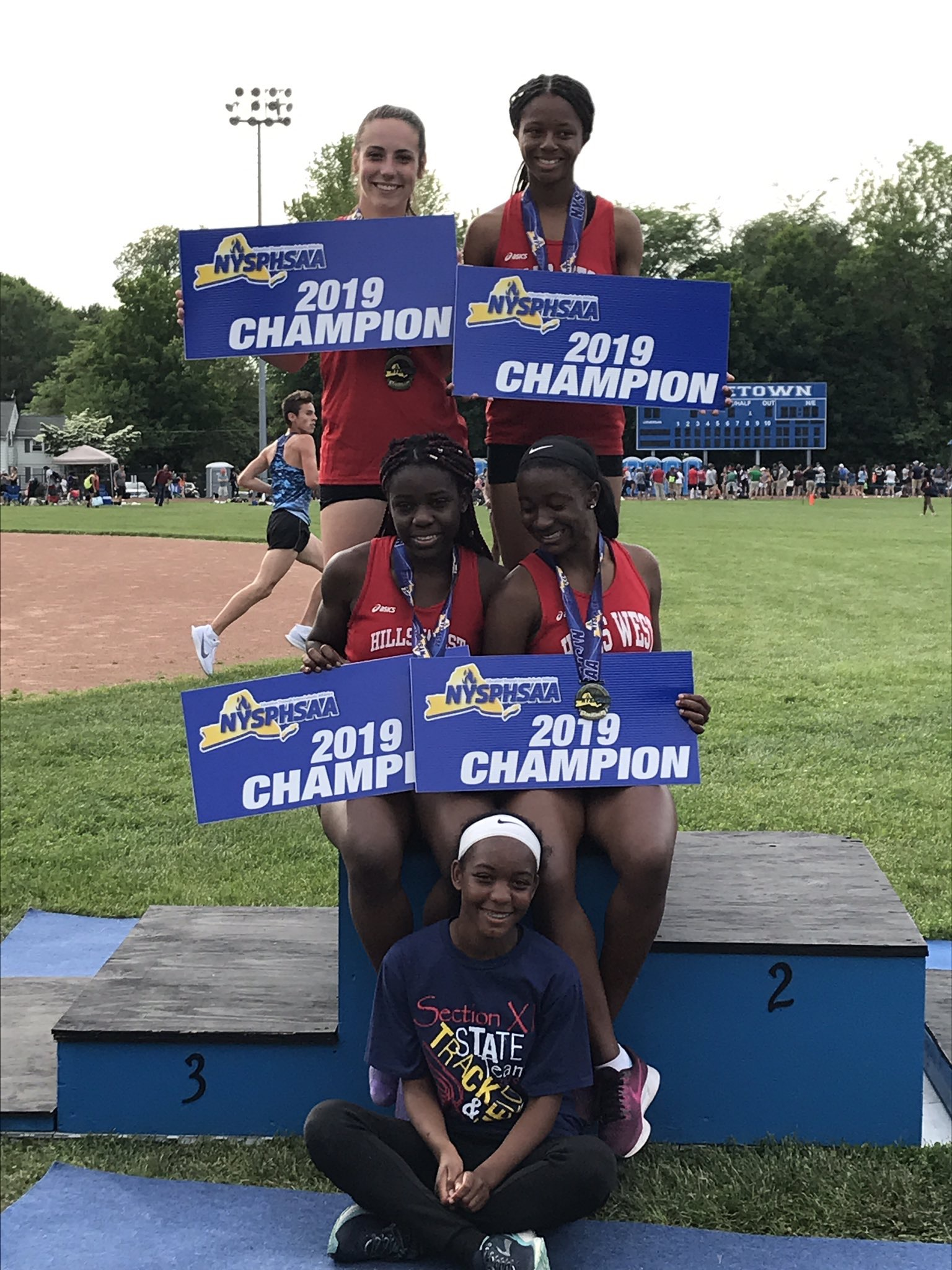 Hills West Girls 4x100 Relay Team Wins New York State Championship