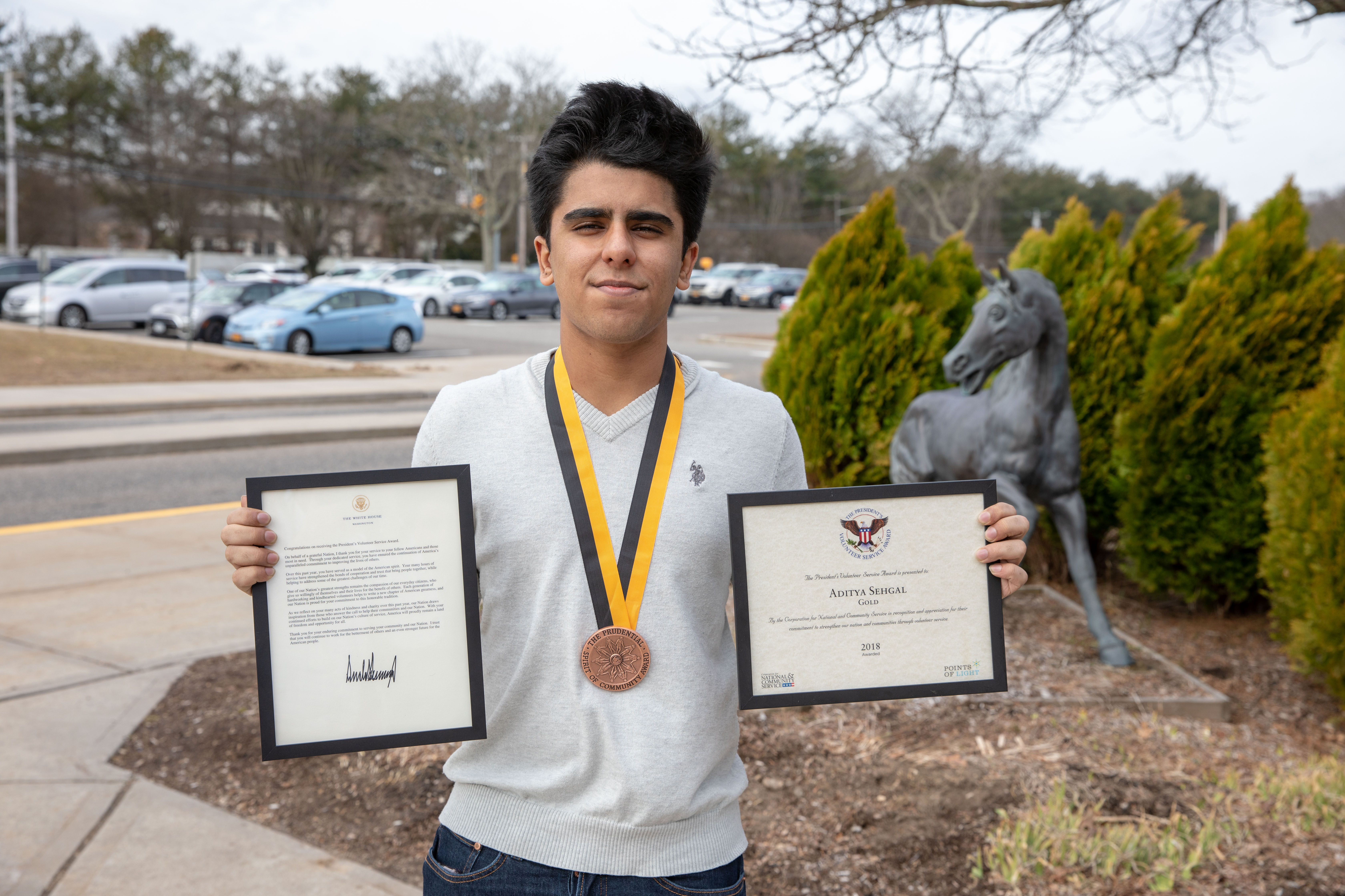 West's Aditya Sehgal Receives President's Gold Volunteer Service Award
