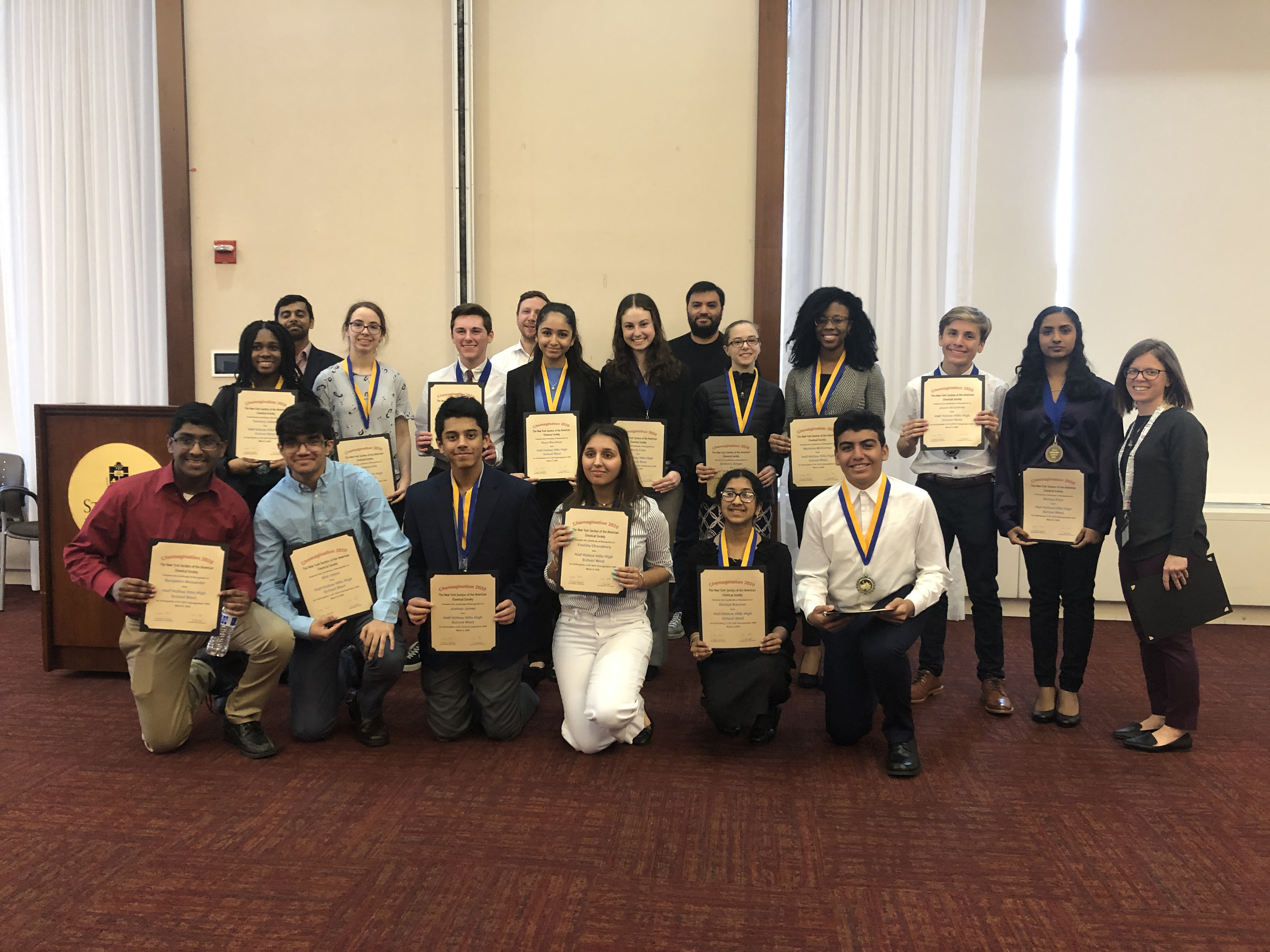 Hills West Students Win & Place At 2020 Chemagination Competition
