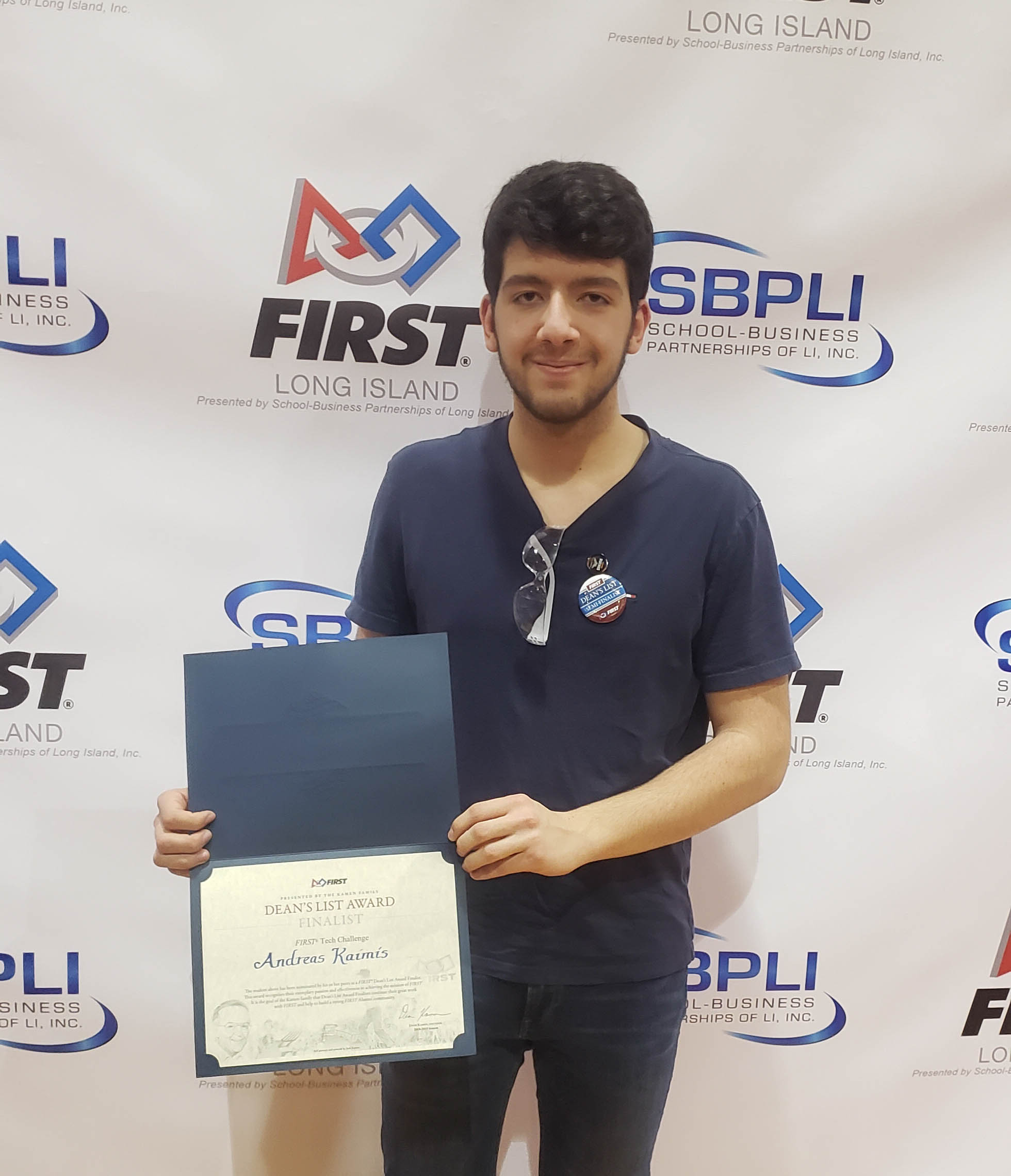 Andreas Kaimis A Finalist For FIRST Robotics Dean's List