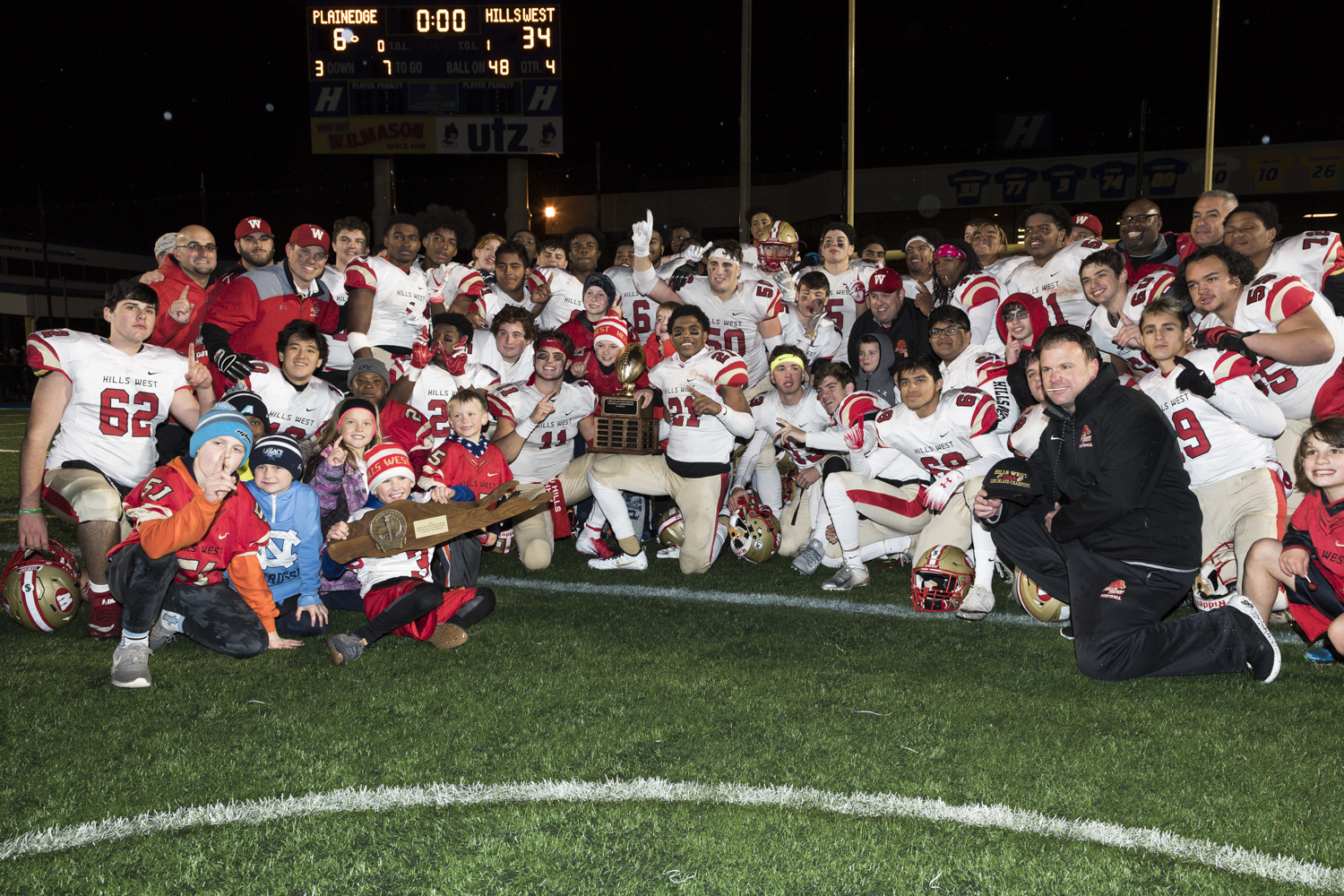Hills West Football Team Crowned Long Island Champions!