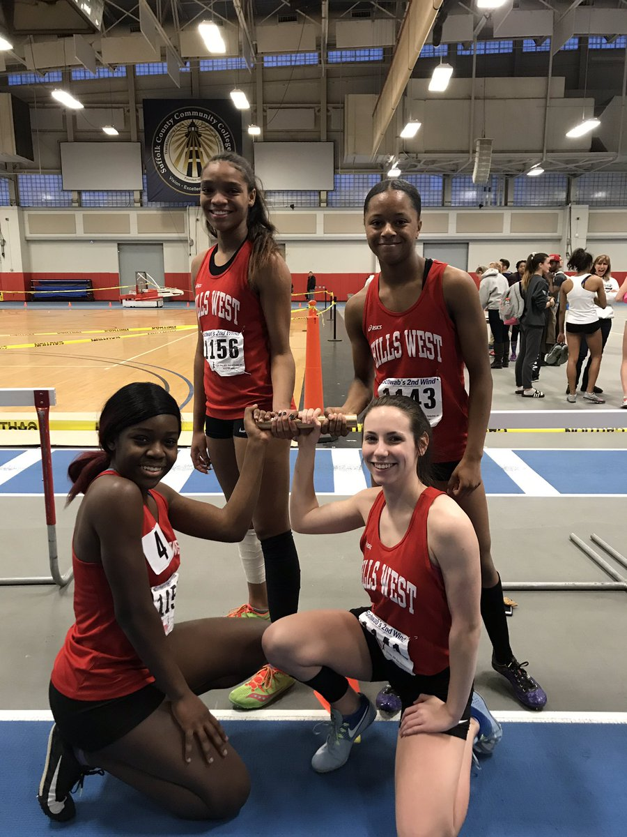 Record Breaking Performance By Hills West Girls Track & Field 4x200 Relay