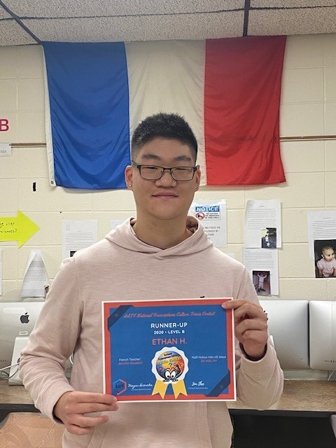 Hills West's Ethan Han Places 2nd In National French Cultural Trivia Contest