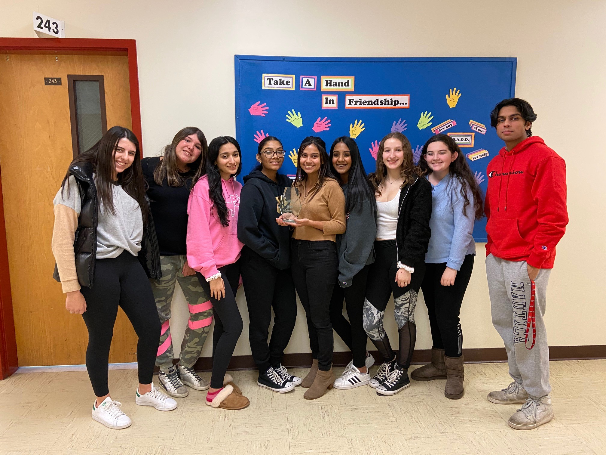 Hills West SADD Club Wins Fundraising Award From MADD
