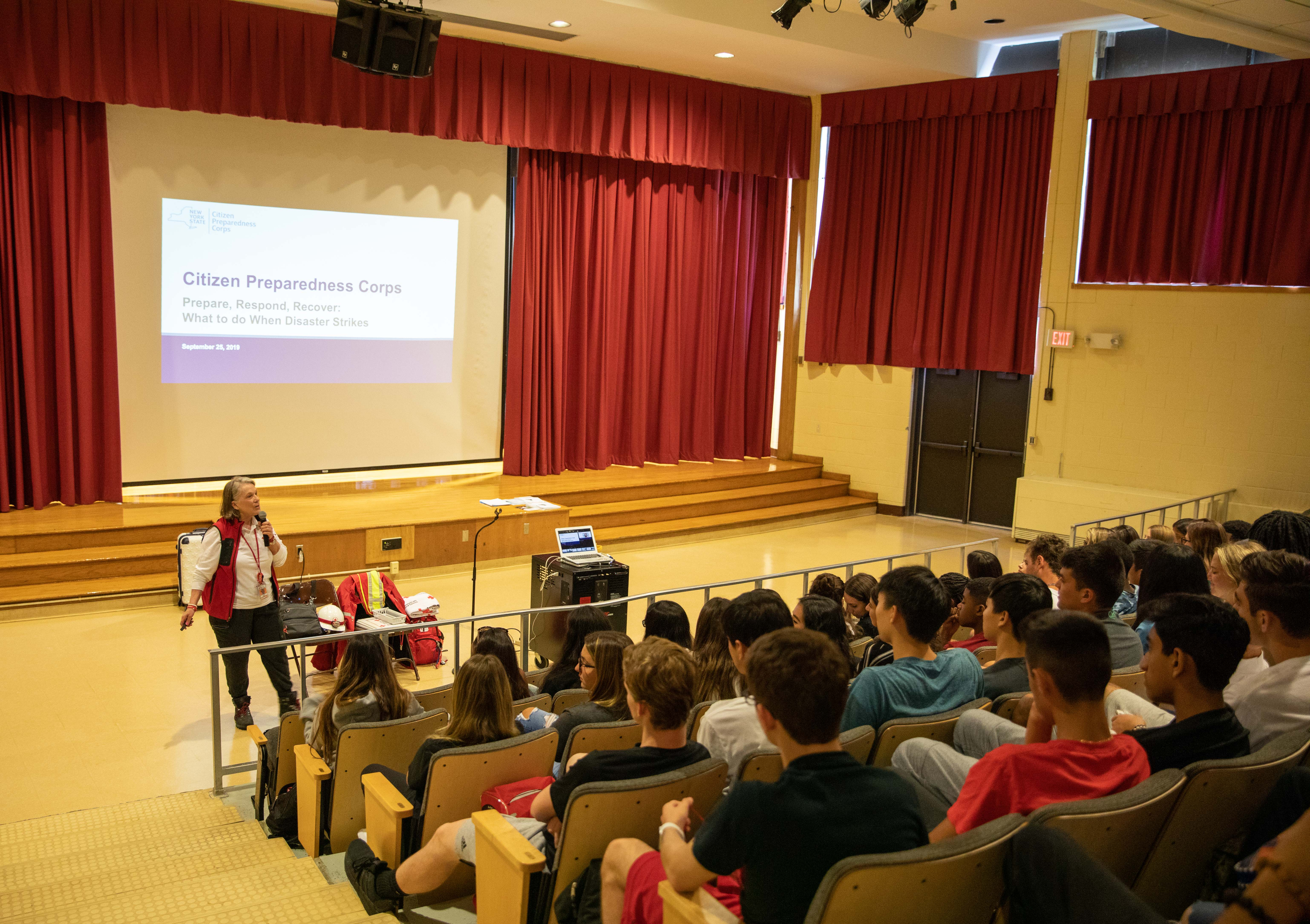 Senior Experience Classes Participate In Citizens Preparedness Corps