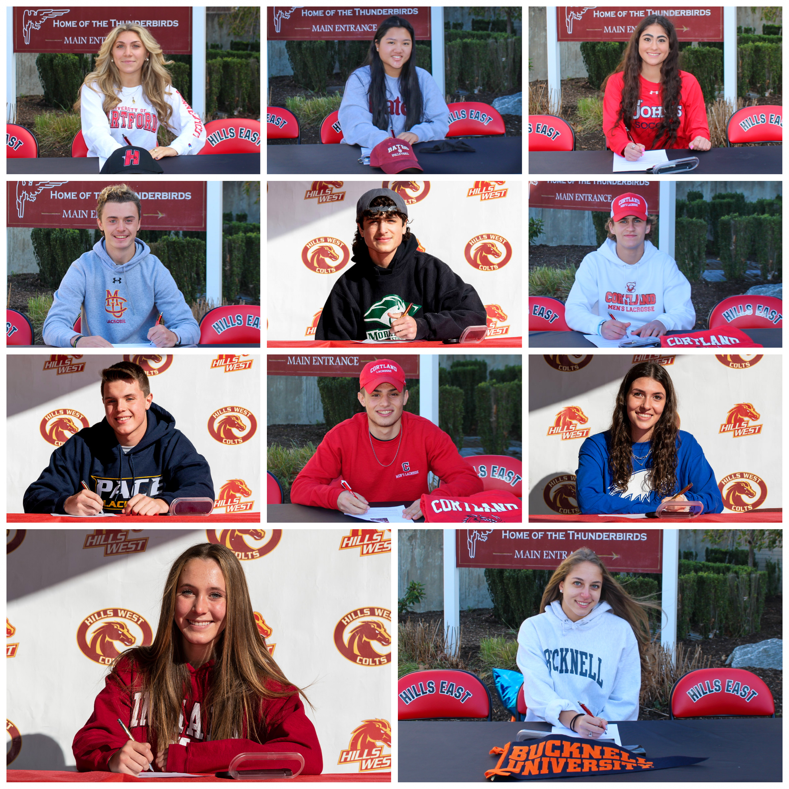 Student Athletes from East and West Participate In Fall Athletic Signing Day