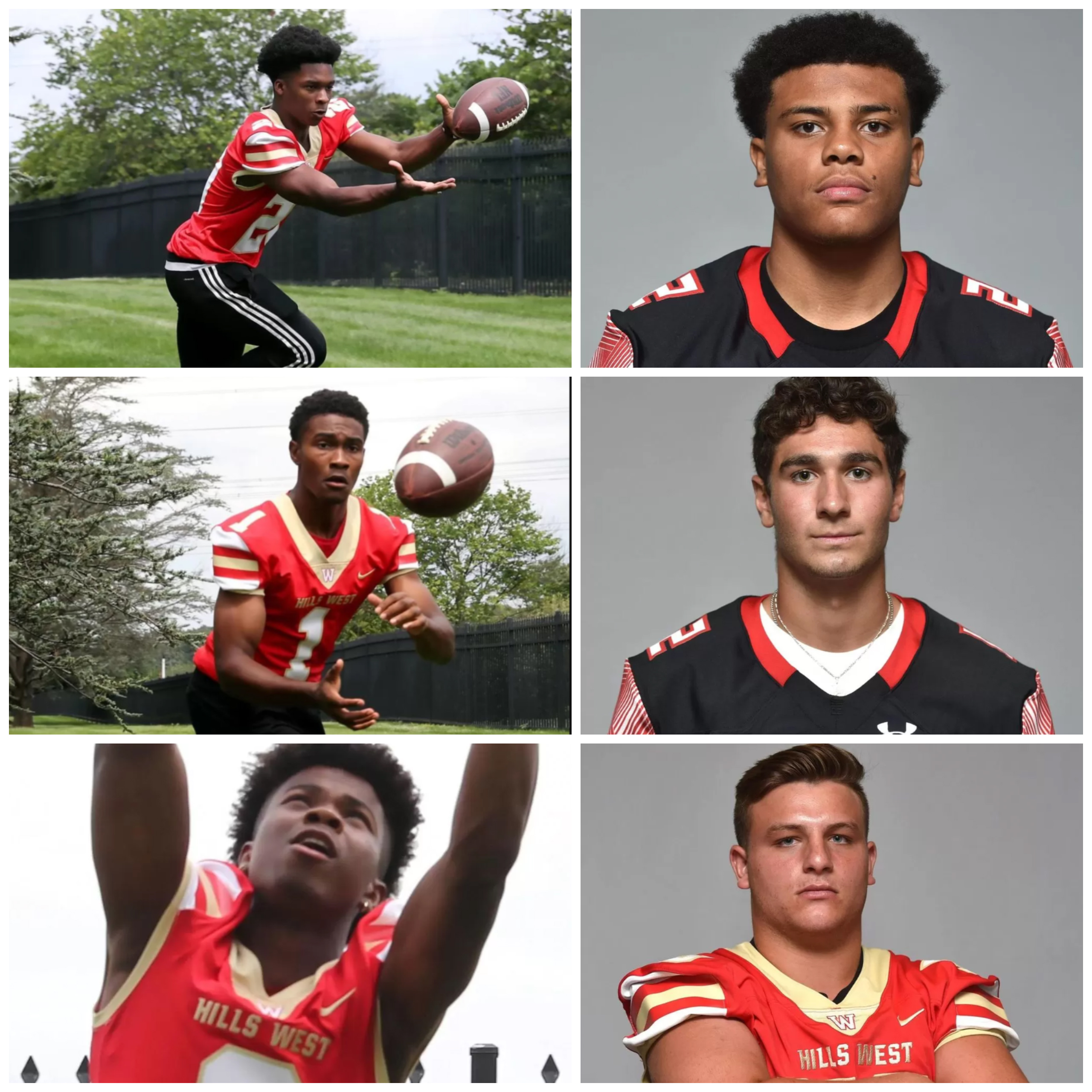 Hills East & West Student-Athletes Ranked In Top 100 Football Players