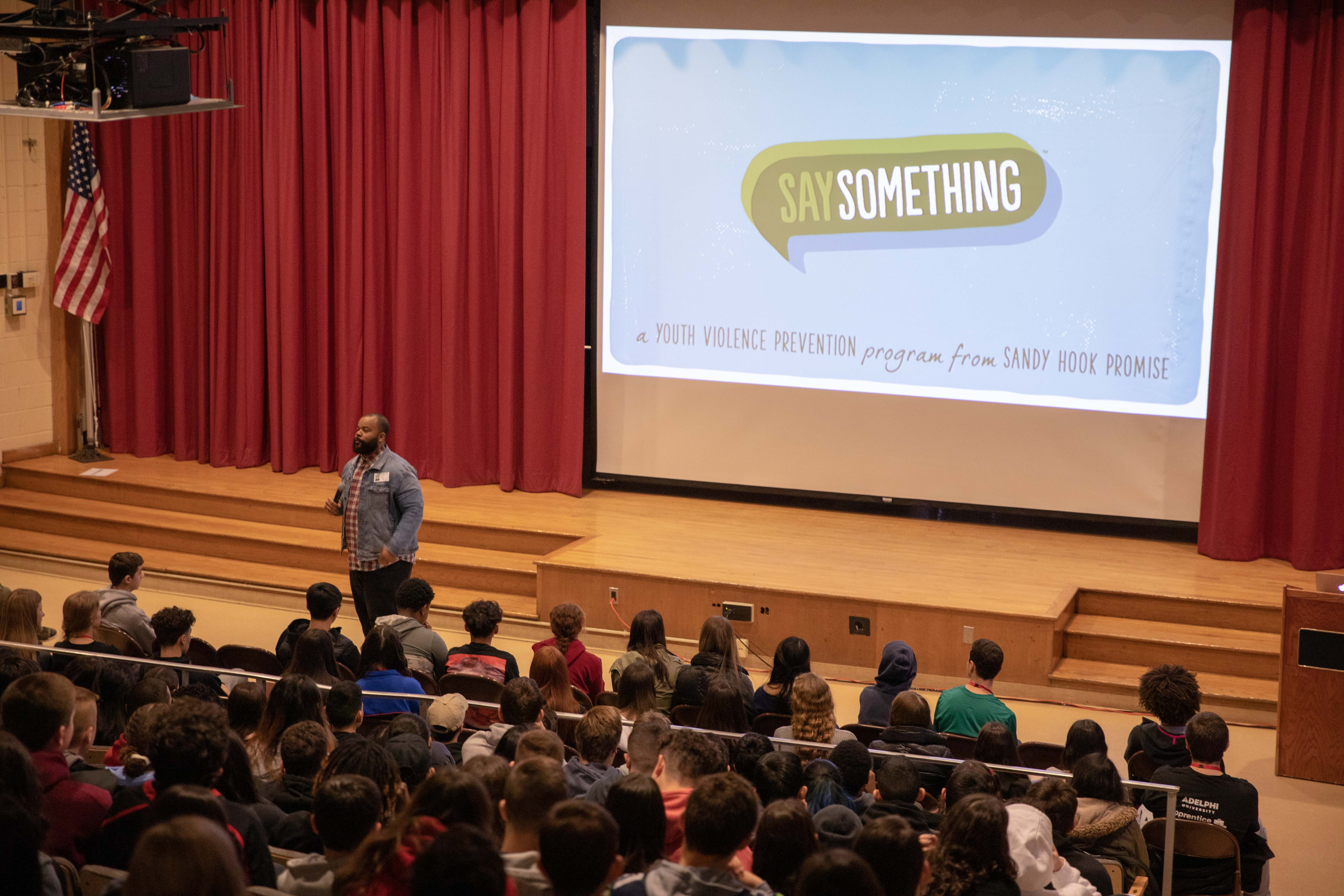 Students Receive Training On Say Something Anonymous Reporting App
