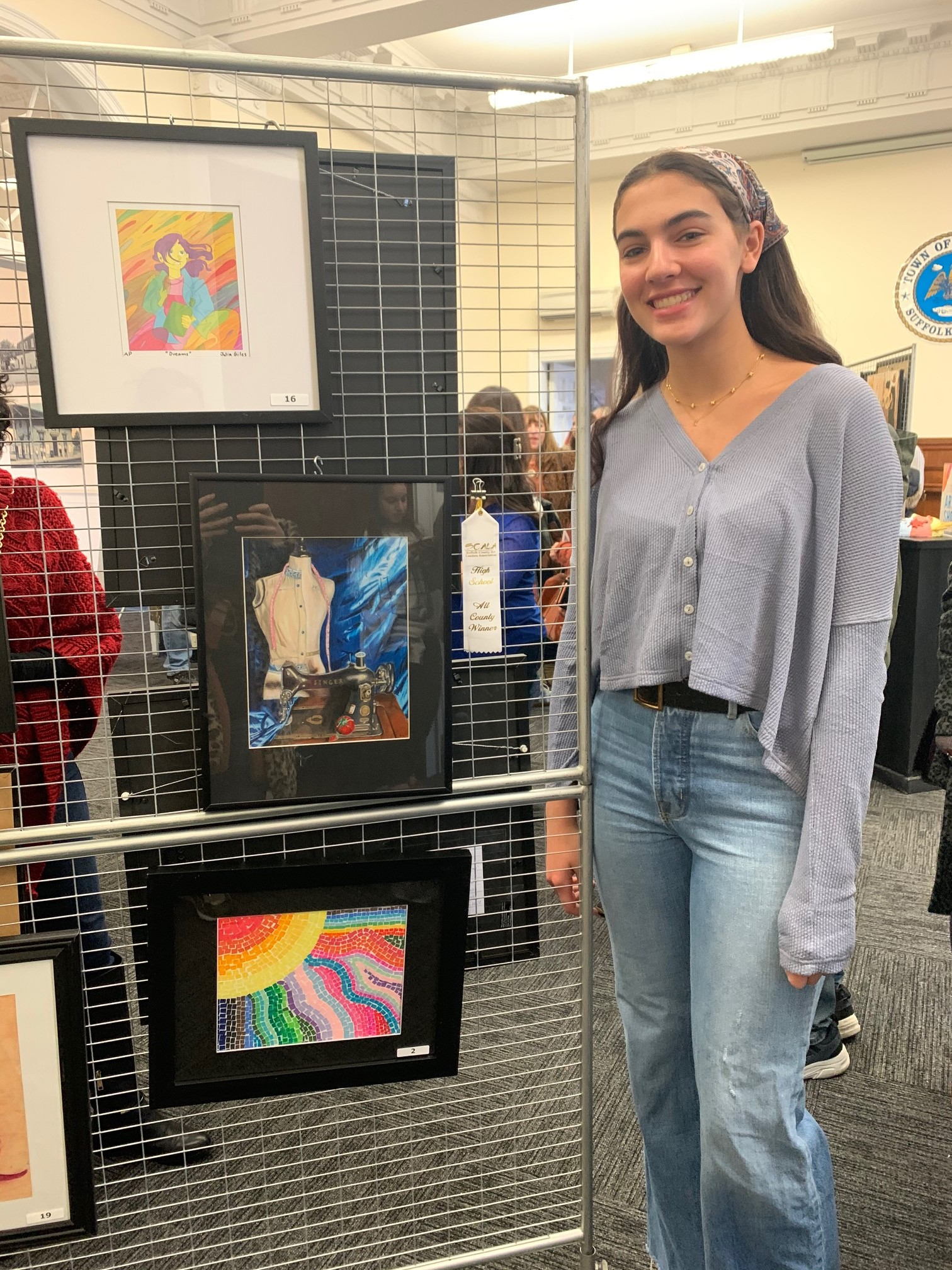 East's Amanda Spiegel Wins SCALA All County Drawing Award