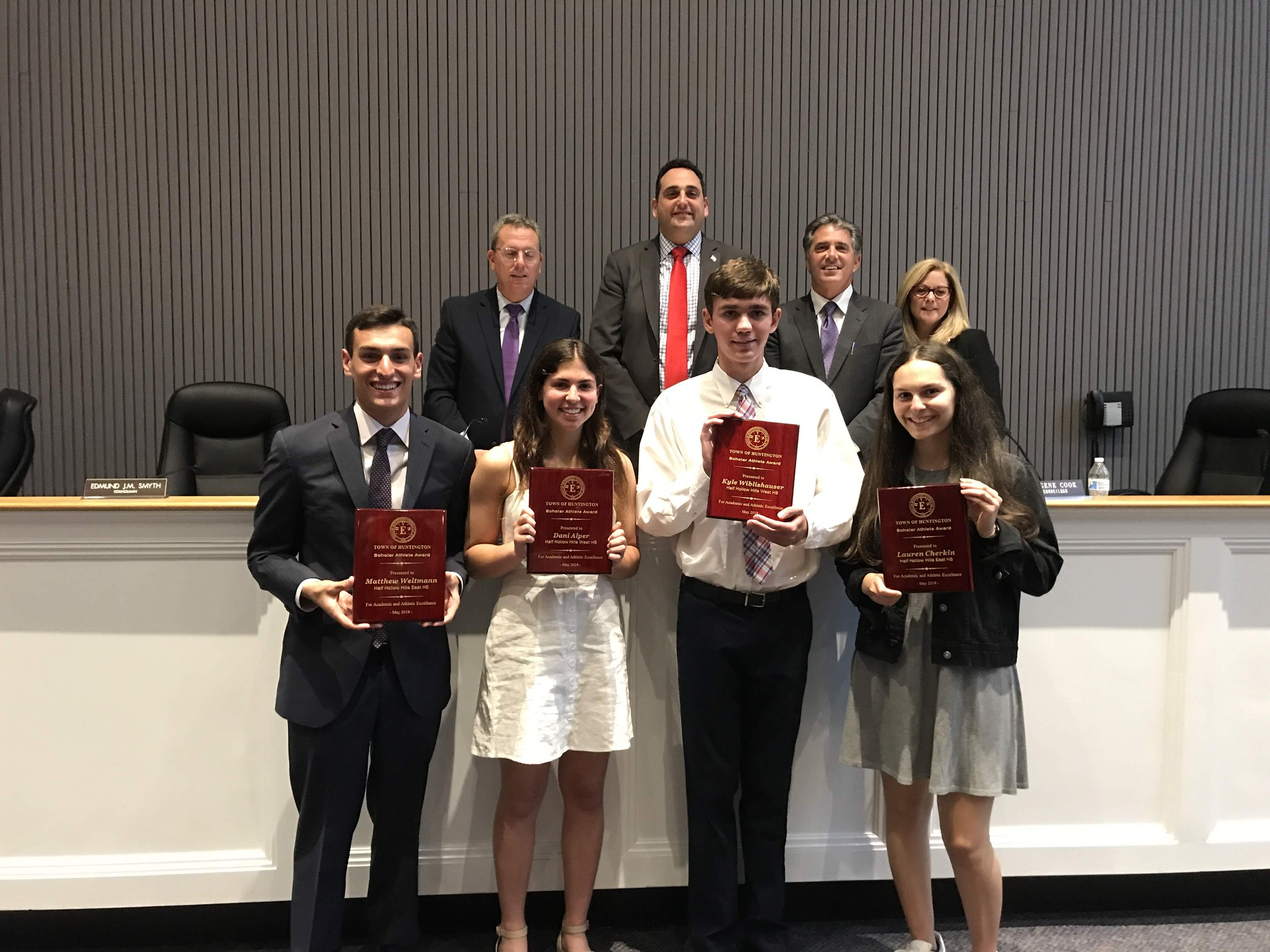 Hills' Scholar Athletes Recognized By Town Of Huntington