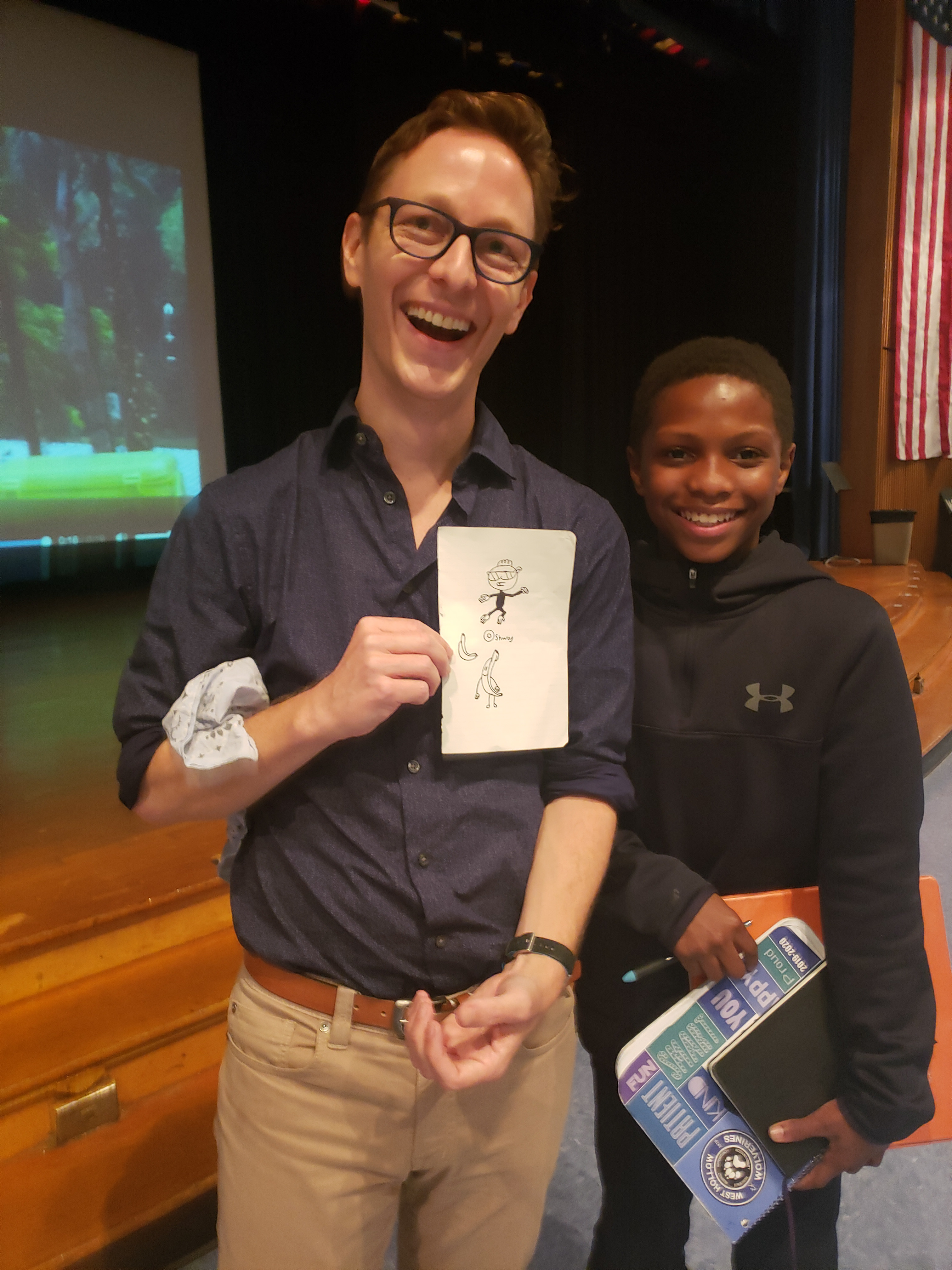 Author Eliot Schrefer Visits Candlewood And West Hollow Middle Schools