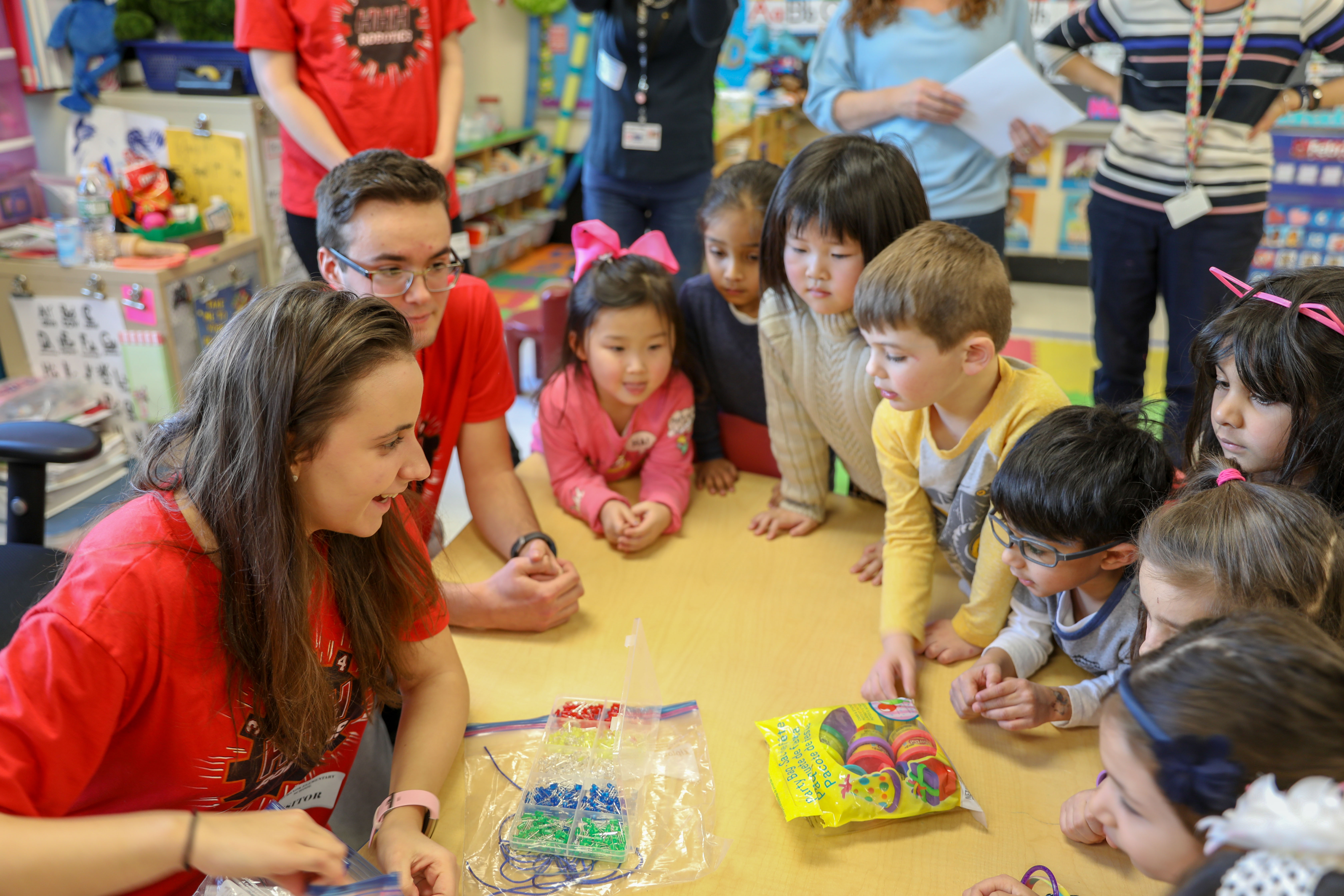 FIRST Robotics Team Engages With District's Youngest Learners