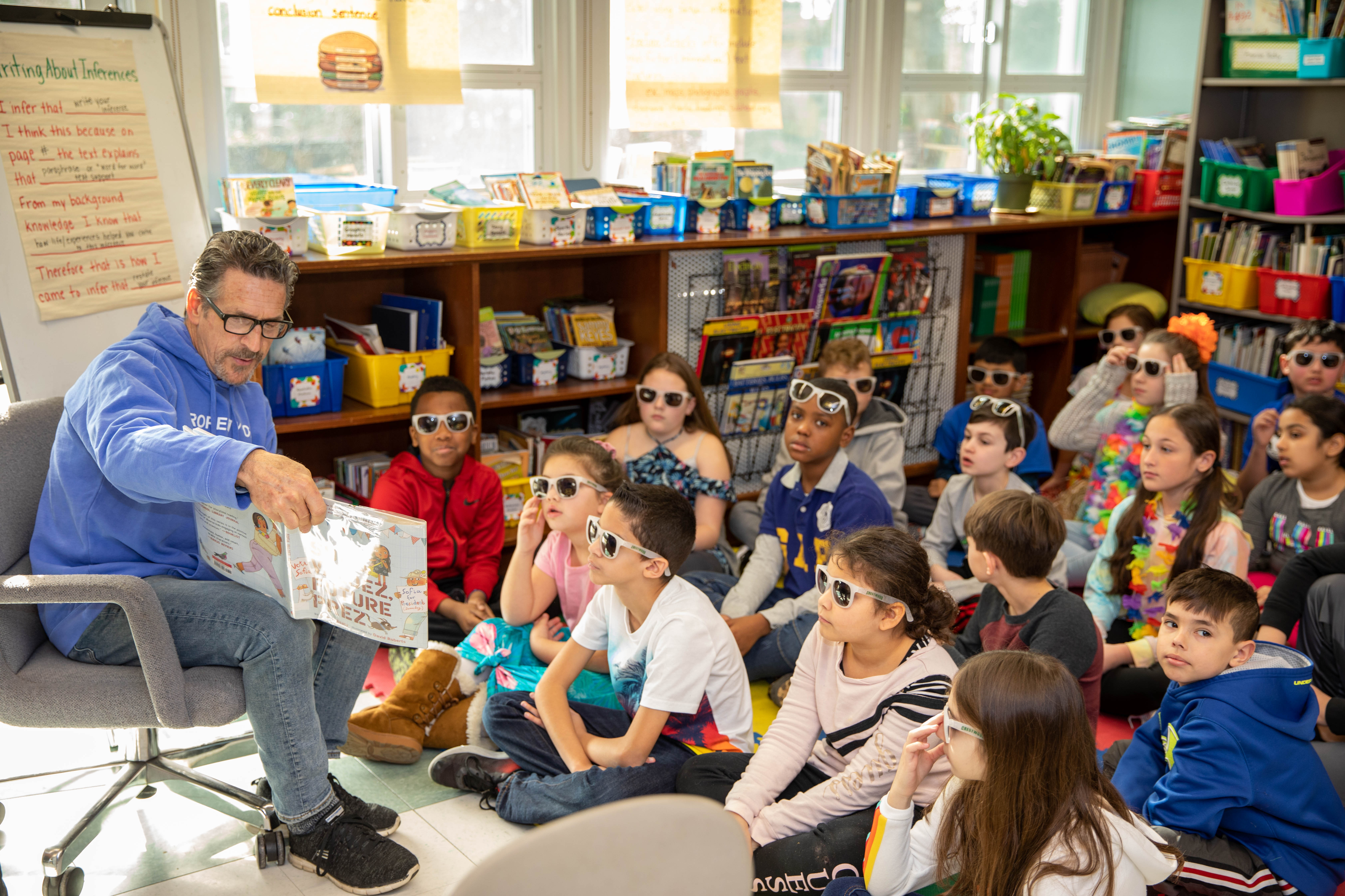 Sunquam Hosts Mystery Readers For PARP (Pick A Reading Partner) Celebration