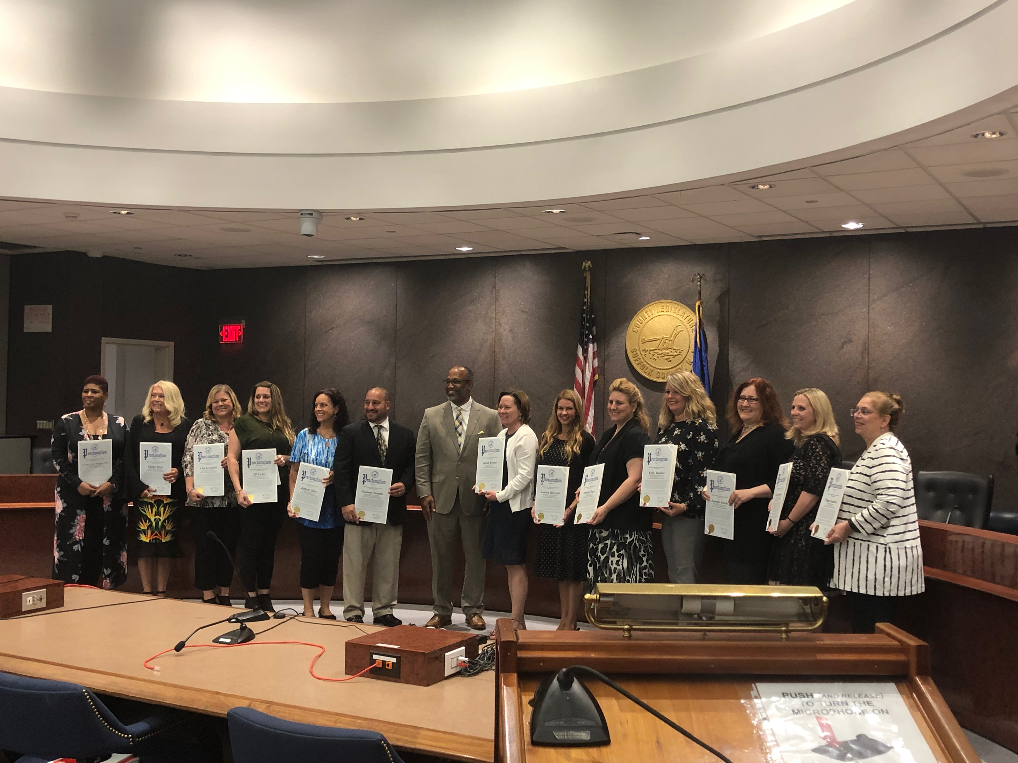 Hills Teachers Honored At Suffolk County Legislature's Teacher Appreciation Awards Night