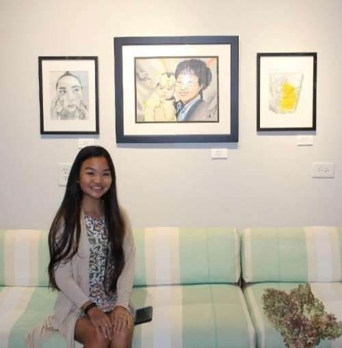 Students Exhibit Their Artwork at the Atelier at Flowerfield Exhibition